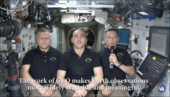 Message from the International Space Station to the GEO Community