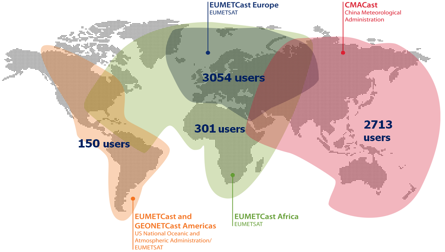 GEONETCast Users Worldwide April 2016