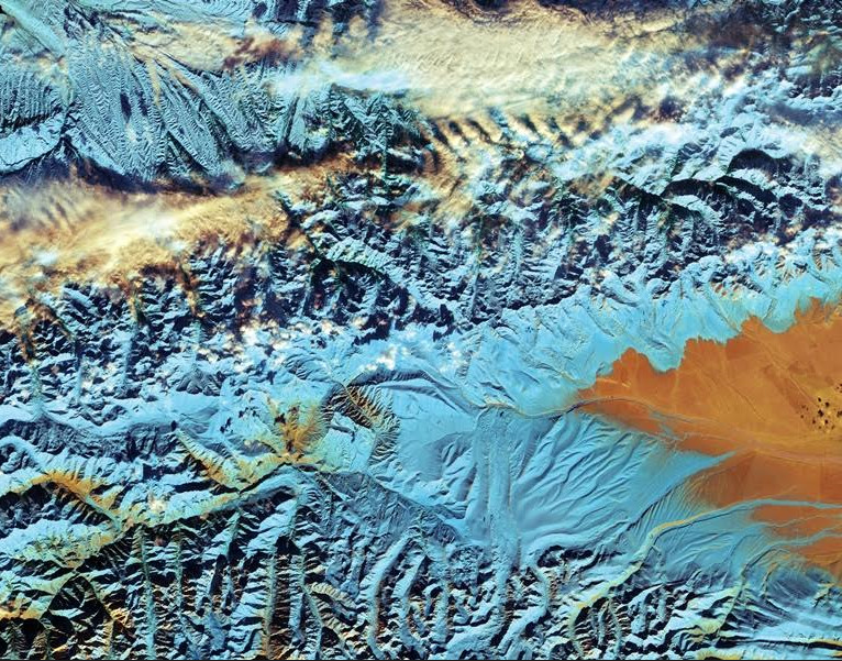 China´s Tian Shan Mountains, copyright: contains modified Copernicus Sentinel data (2016), processed by ESA