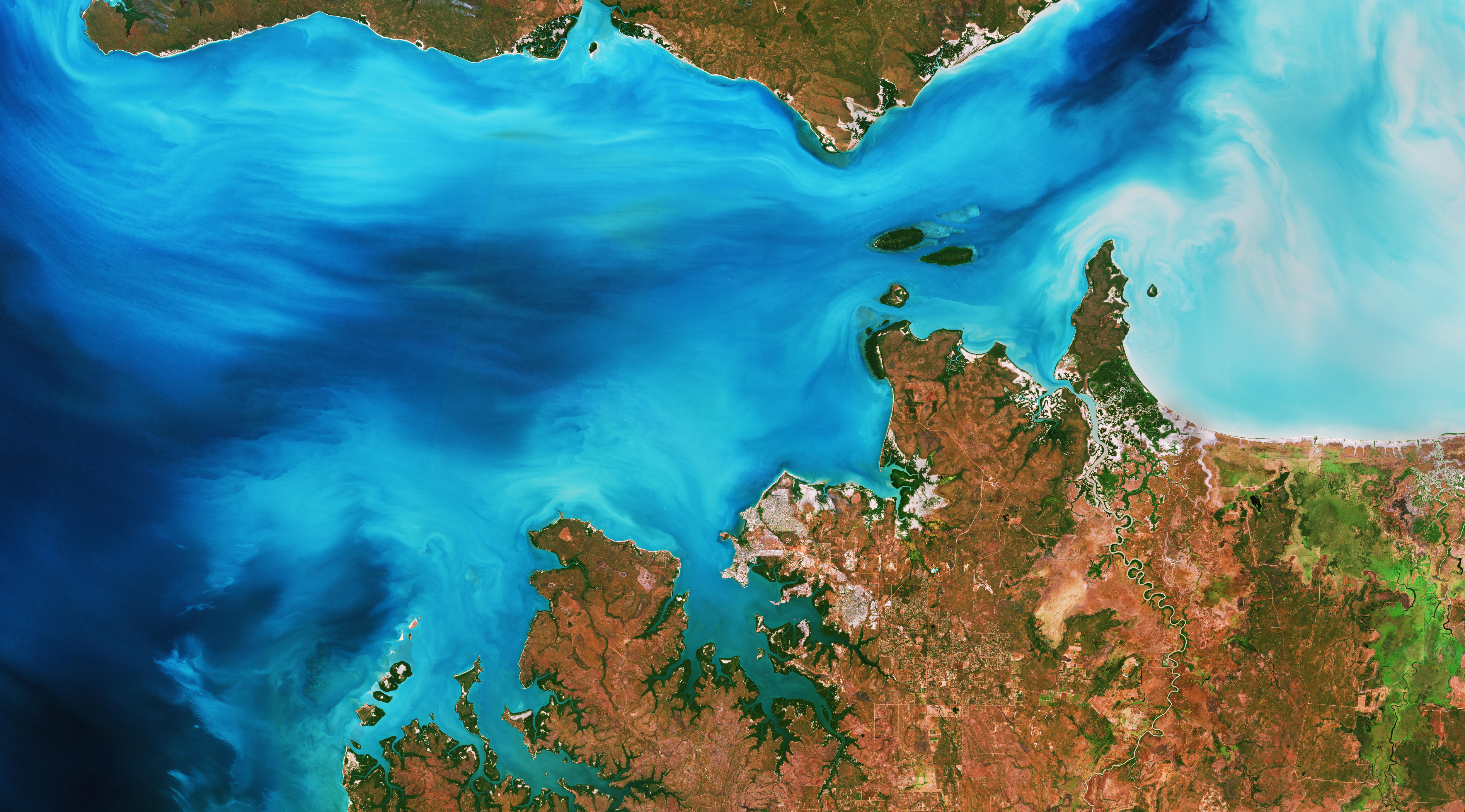 Clarence Strait, Australia. Contains modified Copernicus Sentinel data (2019), processed by ESA