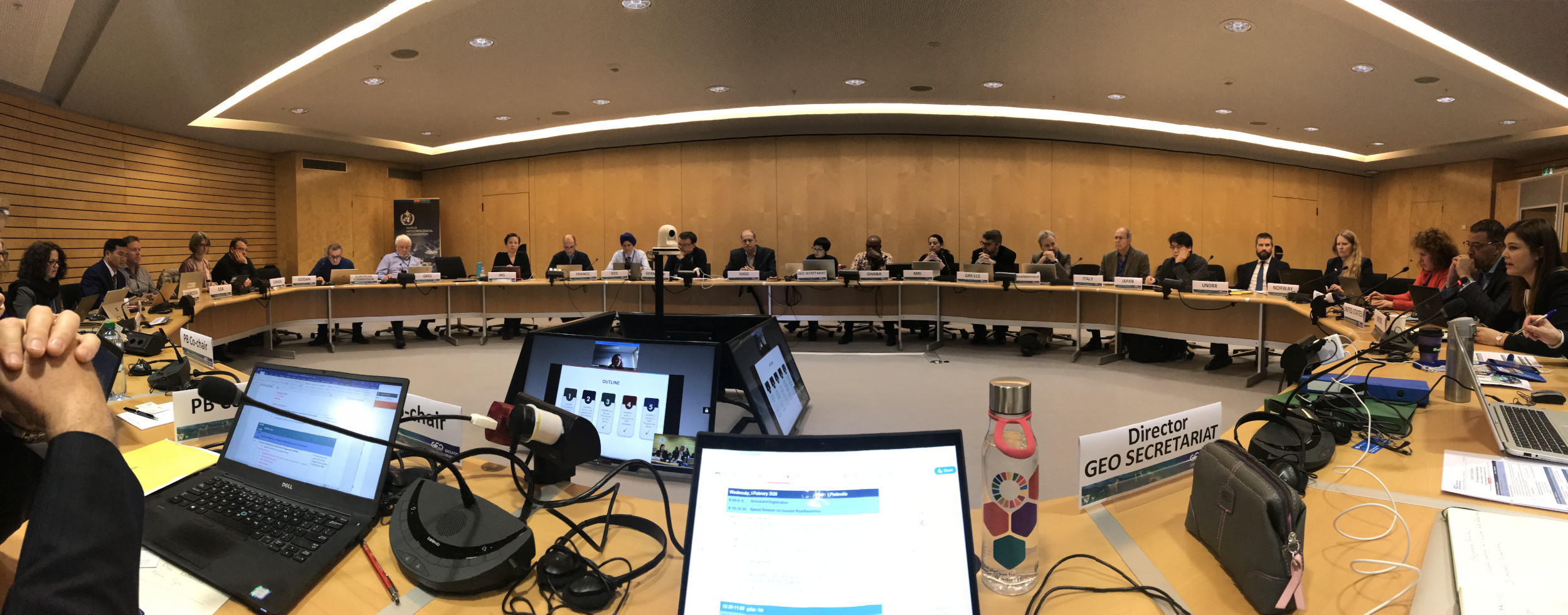 GEO Programme Board Meeting with United Nations Office of Disaster Risk Reduction (UNDRR) at WMO, Geneva, Switzerland