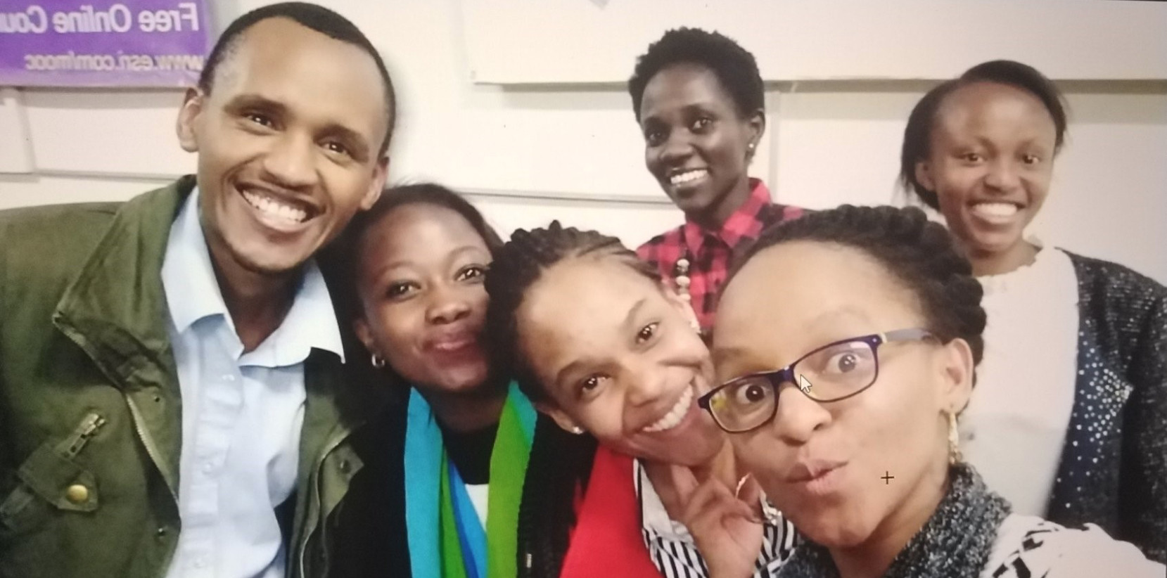 This picture was taken after our inaugural student event on post graduate studies. From Left  Alex Asige-Kenyatta University, Caroline Akoth-WiGISKe, Sophia Njeri-WiGISKe, Nombuyiselo Murage-WiGISKe.  At the back - from left - Yariwo Kitiyo-WiGISKe and Annrose Mwangi- University of Nairobi