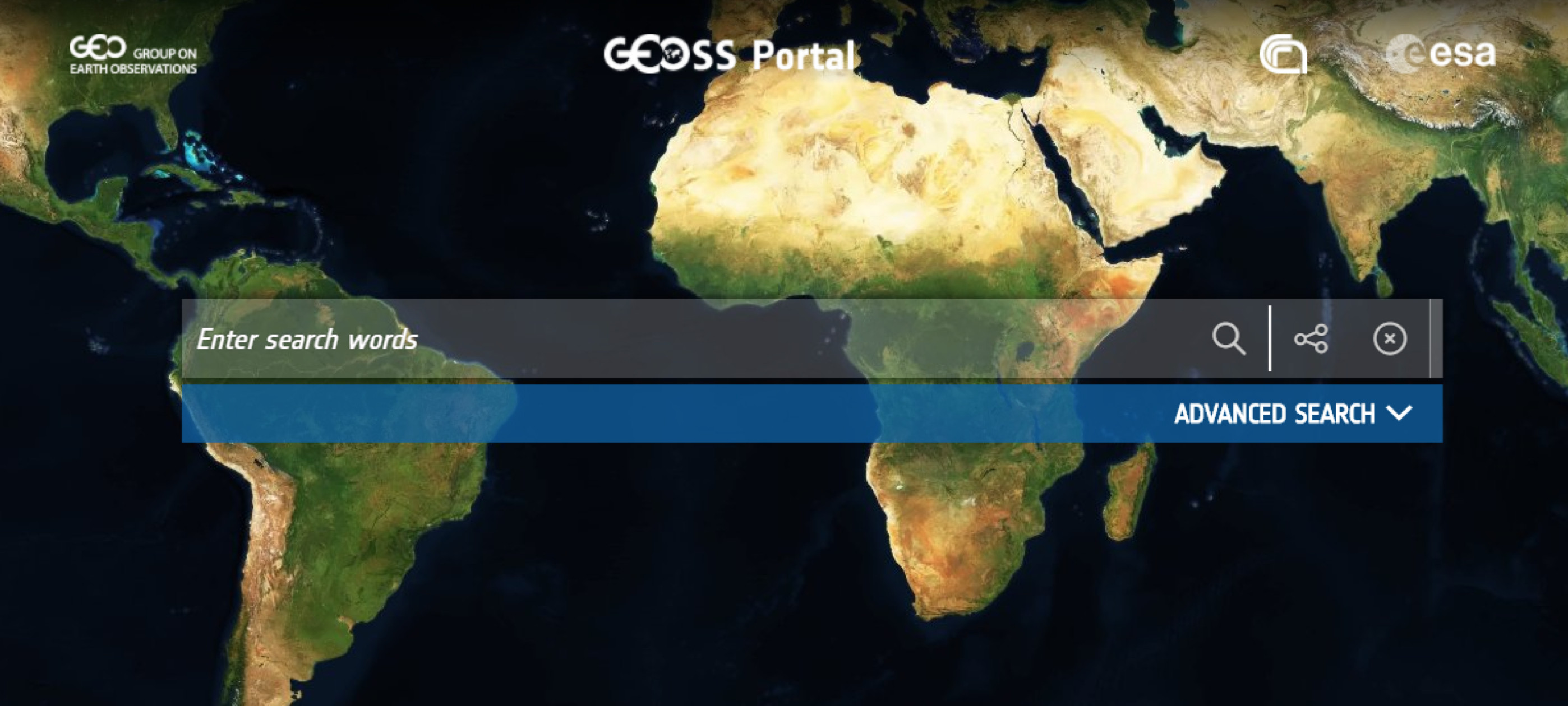 Visit the enhanced GEOSS Portal to access EO data