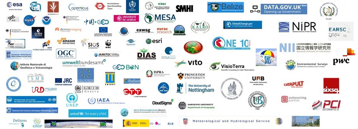 2nd Data Providers Workshop Participants' logos